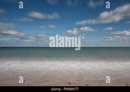 The North Sea in slow motion, Eccles, Norfolk, UK - Stock Photo