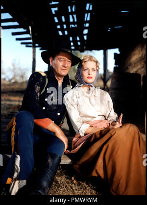 Prod DB © Mirisch Corporation / DR LES CAVALIERS (THE HORSE SOLDIERS) de John Ford 1958 USA avec John Wayne et Constance Towers western, - Stock Photo