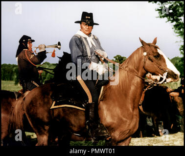 Prod DB © Mirisch Corporation / DR LES CAVALIERS (THE HORSE SOLDIERS) de John Ford 1958 USA avec John Wayne armee americaine, nordiste, cavalier, clairon - Stock Photo