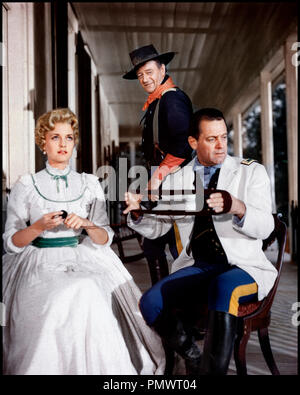 Prod DB © Mirisch Corporation / DR LES CAVALIERS (THE HORSE SOLDIERS) de John Ford 1958 USA avec Constance Towers, John Wayne et William Holden armee americaine, - Stock Photo