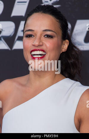 Michelle Rodriguez arrives at the premiere of Universal Pictures' 'Fast & Furious 6' at Gibson Amphitheatre on May 21, 2013 in Universal City, California. Photo by Eden Ari / PRPP / PictureLux  File Reference # 31967_114PRPPEA  For Editorial Use Only -  All Rights Reserved - Stock Photo