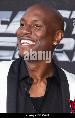 Tyrese Gibson arrives at the premiere of Universal Pictures' 'Fast & Furious 6' at Gibson Amphitheatre on May 21, 2013 in Universal City, California. Photo by Eden Ari / PRPP / PictureLux  File Reference # 31967_129PRPPEA  For Editorial Use Only -  All Rights Reserved - Stock Photo