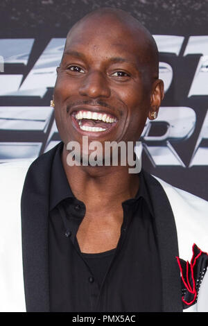 Tyrese Gibson arrives at the premiere of Universal Pictures' 'Fast & Furious 6' at Gibson Amphitheatre on May 21, 2013 in Universal City, California. Photo by Eden Ari / PRPP / PictureLux  File Reference # 31967_130PRPPEA  For Editorial Use Only -  All Rights Reserved - Stock Photo