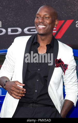Tyrese Gibson arrives at the premiere of Universal Pictures' 'Fast & Furious 6' at Gibson Amphitheatre on May 21, 2013 in Universal City, California. Photo by Eden Ari / PRPP / PictureLux  File Reference # 31967_131PRPPEA  For Editorial Use Only -  All Rights Reserved - Stock Photo
