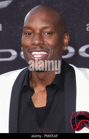 Tyrese Gibson arrives at the premiere of Universal Pictures' 'Fast & Furious 6' at Gibson Amphitheatre on May 21, 2013 in Universal City, California. Photo by Eden Ari / PRPP / PictureLux  File Reference # 31967_132PRPPEA  For Editorial Use Only -  All Rights Reserved - Stock Photo