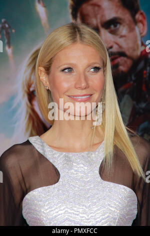 Gwyneth Paltrow at the World Premiere of Marvel's 'Iron Man 3'. Arrivals held at El Capitan Theatre in Hollywood, CA, April 24, 2013. Photo by Joe Martinez / PictureLux - Stock Photo