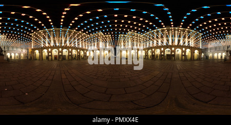 Artist's Lights in Town Hall Square, Torino, Italy. - Stock Photo
