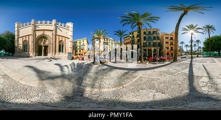 Plaça de la Llotja - Palma de Mallorca - Spain - Stock Photo