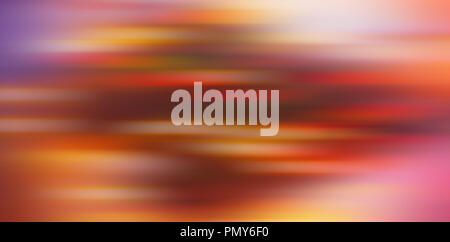 abstract blurred background, horizontal color spots - red, yellow, brown, pink, violet. Web banner. Element of design. - Stock Photo