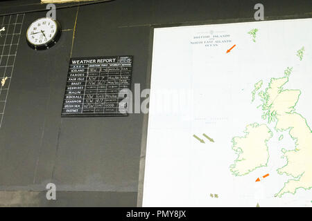 Liverpool Exchange Flags Western Approaches HQ WWII Second World War Derby House museum bunker Citadel Fortress Citadel or Fortress map British Isles - Stock Photo