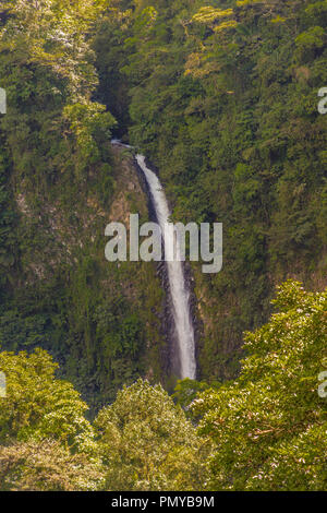 La Fortuna, Costa Rica. March 2018. A view of La Fortuna waterfall in Costa Rica - Stock Photo