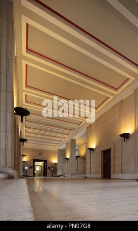 lobby of Senate House, the administrative centre of the University of London, situated in the heart of Bloomsbury, London, UK - Stock Photo