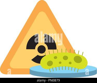 bacteria science hazard radiation danger - Stock Photo