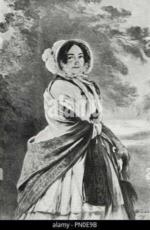The Duchess of Kent and Strathearn, mother of Queen Victoria of the United Kingdom - Stock Photo