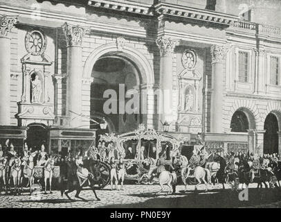 Proclamation of King George IV, at the Royal Exchange, 31 January 1820 - Stock Photo