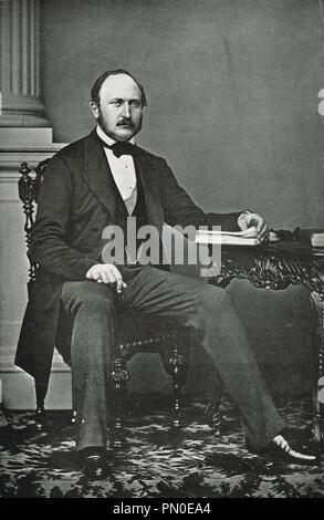 The last portrait taken of Prince Albert, Albert, Prince consort of Queen Victoria by Vernon Heath - Stock Photo