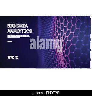 Big Data. Business inteligence technology background. Binary code algorithms deep learning virtual reality analysis. Data science learning machine. Artificial intelligence data research and automation - Stock Photo
