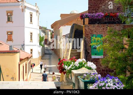 Historic center of Silves. Algarve, Portugal - Stock Photo