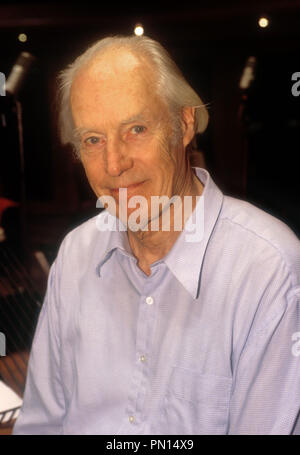 London. UK. Sir George Martin at the Abbey Road Studios in December 2000. UPDATE. George Martin's death announced at the age of 90. Former record producer, music arranger, composer best known for his work with The Beatles in the 1960s and many other artists. ReCaptioned. 9th March 2016.  Ref: LMK11-602302SLEI-090316 Lebowitz/Landmark/MediaPunch - Stock Photo