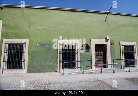 Casa Gardenia del Colegio Sonora el Centro histórico de Hermosillo, Sonora.  (Photo: Luis Gutierrez /NortePhoto)   Pclaves: Fachada, outdoors, casa, a - Stock Photo