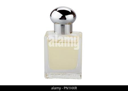 Perfume bottle isolated on white background - Stock Photo