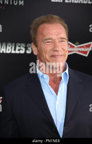 Arnold Schwarzenegger  08/11/2014 The Los Angeles Premiere of 'The Expendables 3' held at the TCL Chinese Theatre in Hollywood, CA Photo by Izumi Hasegawa / HNW / PictureLux - Stock Photo