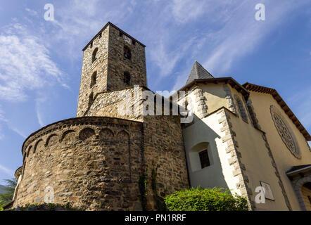 Outside view of a church at Andorra la Vella. - Stock Photo