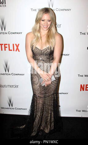 Hilary Duff at the Weinstein 2015 Golden Globes After Party held at the Robinsons May Lot in Beverly HIlls, CA, January 11, 2015. Photo by: R.Anthony / PictureLux  File Reference # 32538_0043RAC  For Editorial Use Only -  All Rights Reserved - Stock Photo