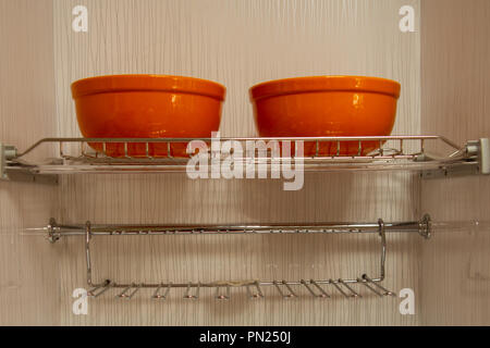 Interior of a house, kitchen cupboards and built-in modules - Stock Photo