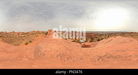 Top of a big Rock in Arches near Devils Garden - Stock Photo