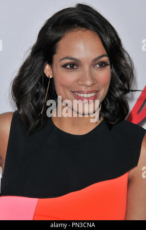 Rosario Dawson at the 'Marvel's Daredevil' Los Angeles Premiere held at the Regal Cinemas LA Live in Los Angeles, CA on Thursday, April 2, 2015. Photo by PRPP_PRPP / PictureLux  File Reference # 32605_001PRPP01  For Editorial Use Only -  All Rights Reserved - Stock Photo