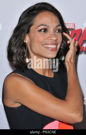 Rosario Dawson at the 'Marvel's Daredevil' Los Angeles Premiere held at the Regal Cinemas LA Live in Los Angeles, CA on Thursday, April 2, 2015. Photo by PRPP_PRPP / PictureLux  File Reference # 32605_005PRPP01  For Editorial Use Only -  All Rights Reserved - Stock Photo