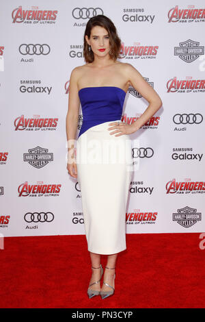 Cobie Smulders at the World Premiere of Marvel's 'Avengers: Age of Ultron' held at the Dolby  Theatre in Hollywood, CA, April 13, 2015. Photo by Joe Martinez / PictureLux - Stock Photo