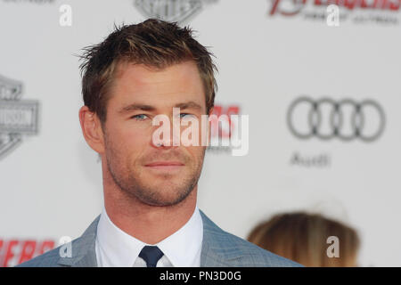 Chris Hemsworth at the World Premiere of Marvel's 'Avengers: Age of Ultron' held at the Dolby  Theatre in Hollywood, CA, April 13, 2015. Photo by Joe Martinez / PictureLux - Stock Photo
