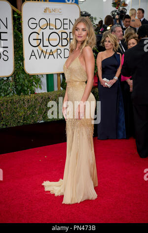 Rosie Huntington-Whiteley arrives at the 73rd Annual Golden Globe Awards at the Beverly Hilton in Beverly Hills, CA on Sunday, January 10, 2016.  File Reference # 32796 131JRC  For Editorial Use Only -  All Rights Reserved - Stock Photo