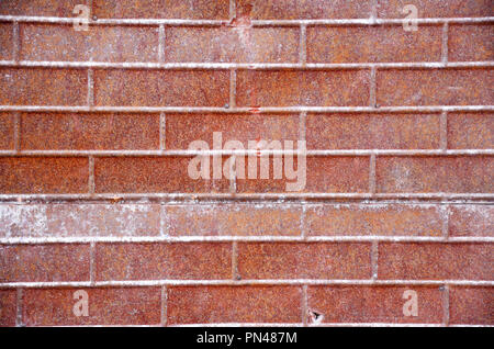 Rusty metal brick siding on a wall - Stock Photo
