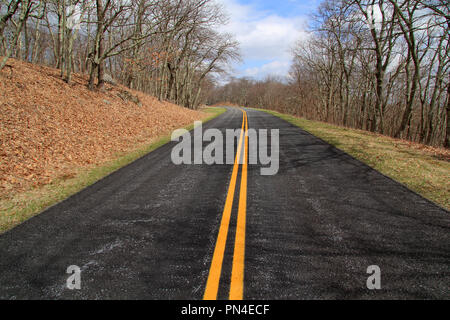 Blue Ridge Parkway Landscape in the Appalachian Mountains, State of Virginia - Stock Photo