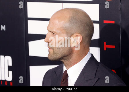 Jason Statham at the premiere of Summit Entertainment's 'Mechanic: Resurrection' held at ArcLight Hollywood in Hollywood, California on August 22, 2016. Photo by Joe Martinez / PictureLux - Stock Photo