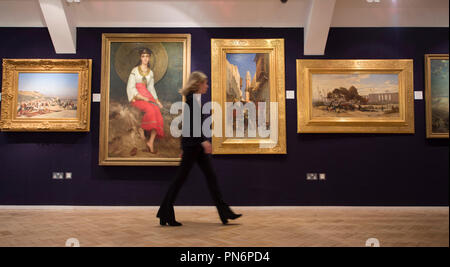 Bonhams, New Bond Street, London, UK. 20 September, 2018. 19th Century European, Victorian and British Impressionist Art on display at Bonhams, for sale on 26th September 2018. Credit: Malcolm Park/Alamy Live News. - Stock Photo