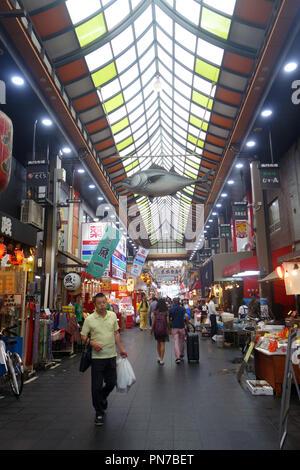 Kuromon Ichiba market, Nipponbashi, Osaka, Japan. No MR or PR - Stock Photo