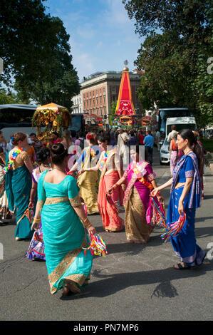 08 September 2018 - Italy, Lombardy, Milan, Hare Krishna, Ratha Yatra Sri Jagannath the Festival of Chariots - Stock Photo