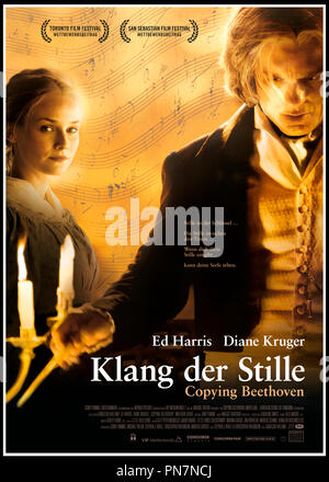 Prod DB © Myriad Pictures - VIP Medienfonds 2 - MGM / DR L'ELEVE DE BEETHOVEN (COPYING BEETHOVEN) de Agnieszka Holland 2006 ALL./USA/HONG. affiche allemande avec Ed Harris et Diane Kruger Ludwig van Beethoven, XIXeme siecle, biopic, biographie - Stock Photo