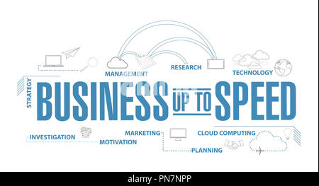 Business up to speed diagram plan concept isolated over a white background - Stock Photo