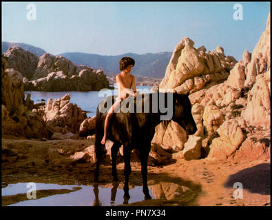Prod DB © Omni Zoetrope / DR L'ETALON NOIR (THE BLACK STALLION) de Carroll Ballard 1979 USA avec Kelly Reno cheval, amitie, homme animal d'apres le roman de Walter Farley - Stock Photo