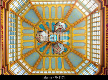 London. September 2018. A view of the ceiling of Leadenhall market in London - Stock Photo