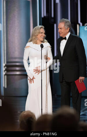 Faye Dunaway and Warren Beatty present during the live ABC Telecast of The 89th Oscars® at the Dolby® Theatre in Hollywood, CA on Sunday, February 26, 2017.  File Reference # 33242 486THA  For Editorial Use Only -  All Rights Reserved - Stock Photo