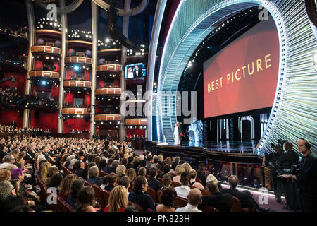 Faye Dunaway and Warren Beatty present during the live ABC Telecast of The 89th Oscars® at the Dolby® Theatre in Hollywood, CA on Sunday, February 26, 2017.  File Reference # 33242 574THA  For Editorial Use Only -  All Rights Reserved - Stock Photo