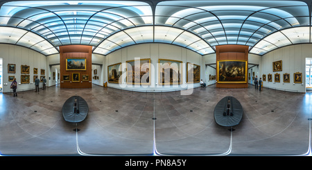 Hubert Robert at Louvre, Sully, Room 49. Paris, 2014. - Stock Photo