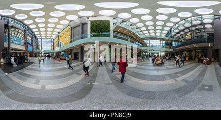 Inside shopping centre Valkea in Oulu, Finland - Stock Photo