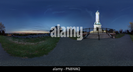 Soldiers and Sailors Monument East Rock Park New Haven CT - Stock Photo